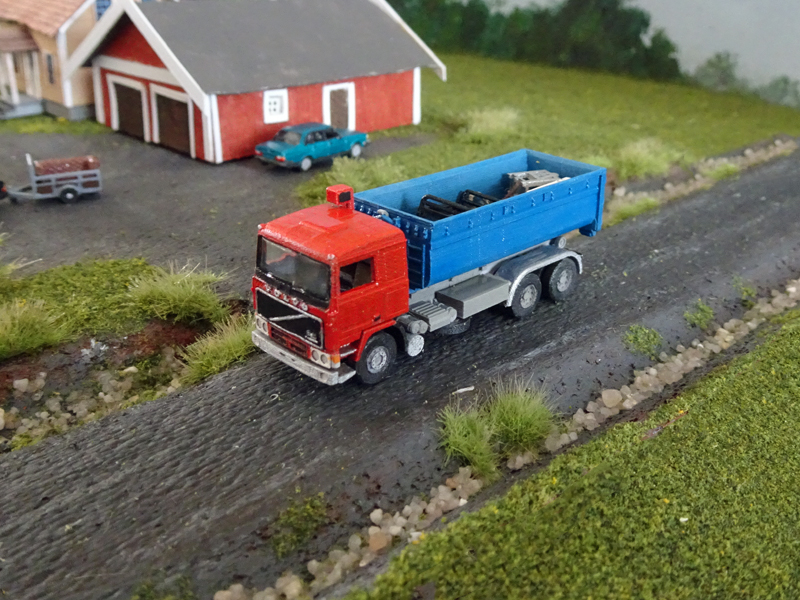 Railnscale n2322-CAMION VOLVO f10 6x4 abrollkipper avec Abrollcontainer-Piste N