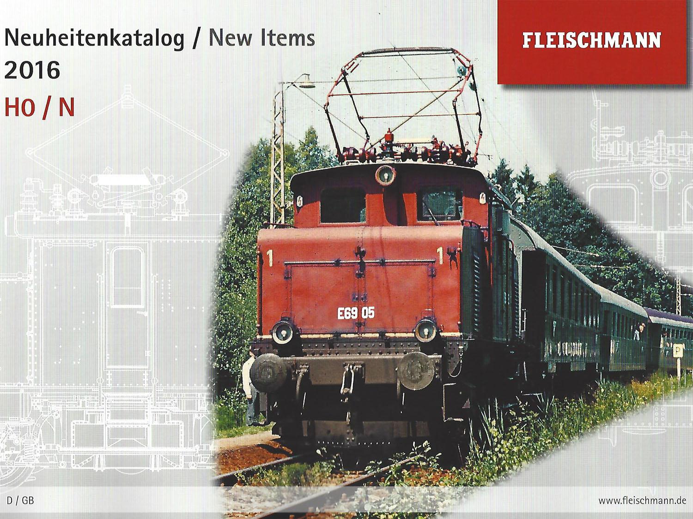 NEW FLEISCHMANN 991620 Catalog Catalogue New Items 2016 Gauge N H0 HO