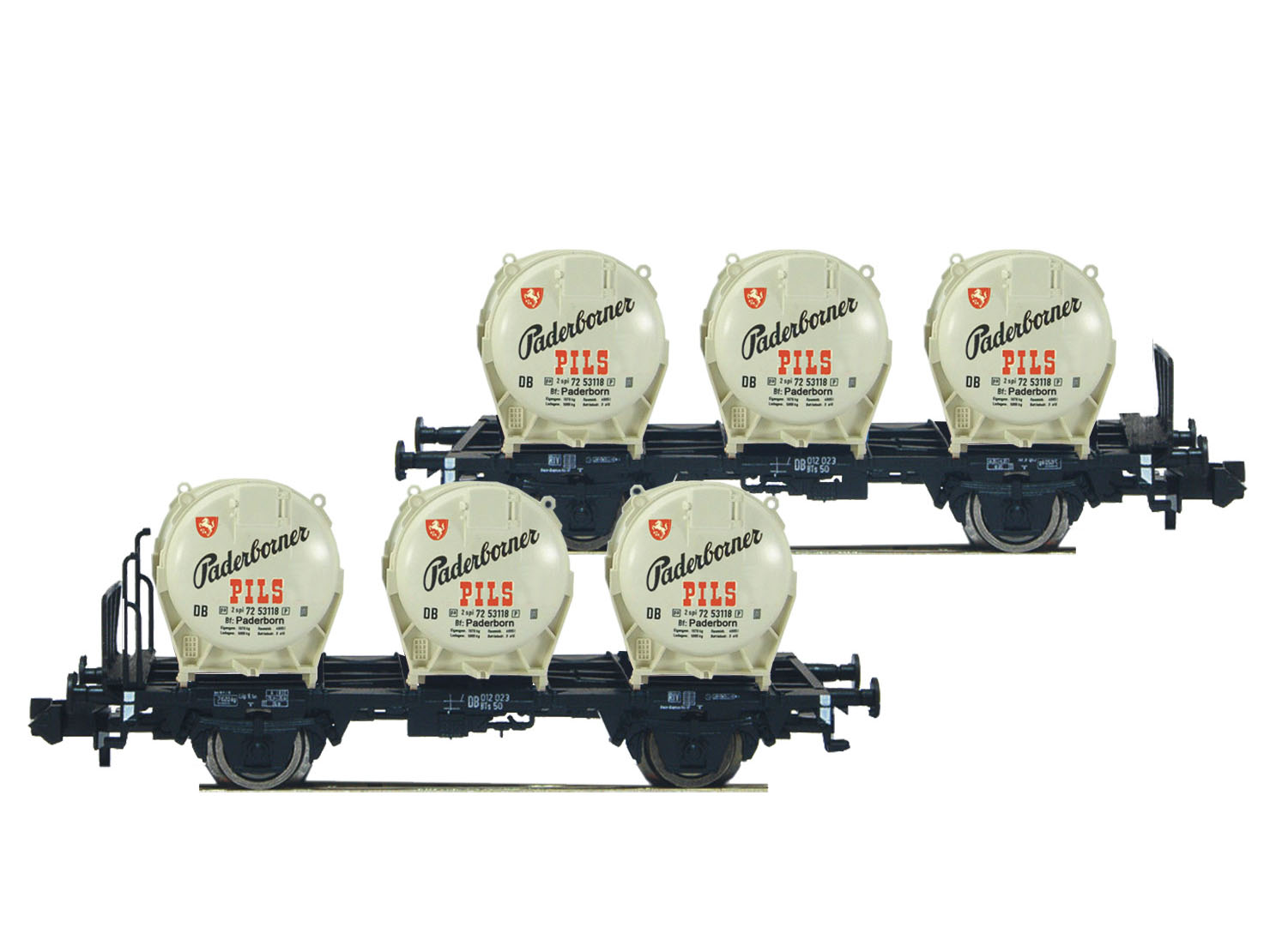 831501, 831502 831503 E3341 Flesichmann 4x Puffer schwarz für viele Güterwagen