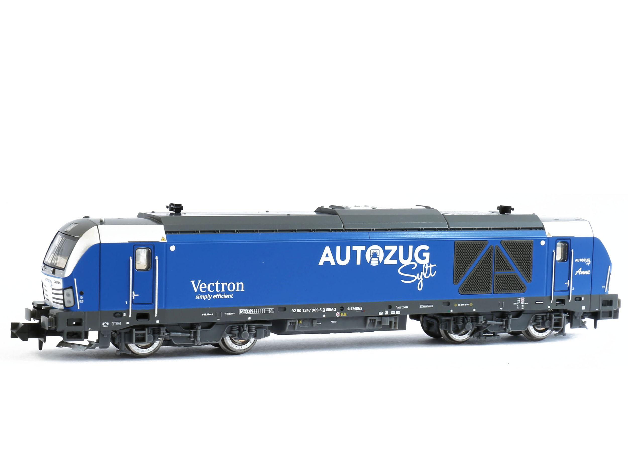 vi-Spur N Hobbytrain h3104-TRENO BR 247 909 Vectron de AutoZug Sylt EP