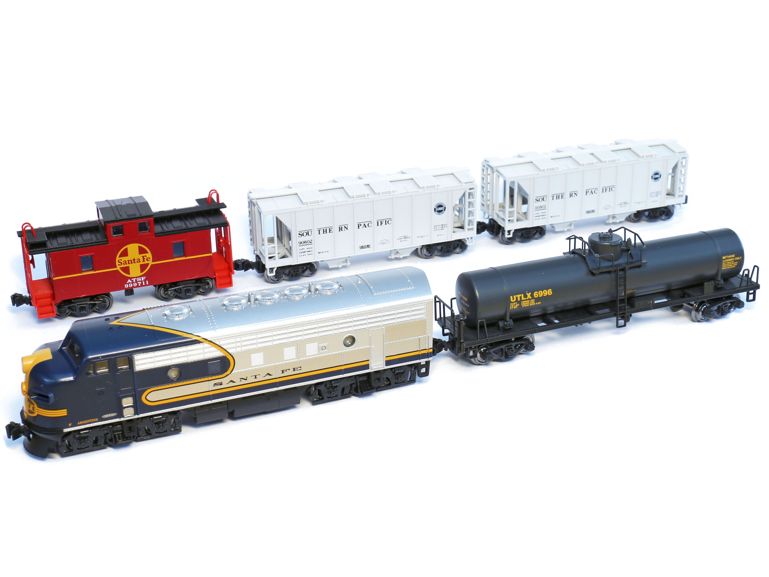 Kato N 1066273 Santa Fe F7 Blue Bonnet Freight Set Without Track Free Shipping Sumo Ci