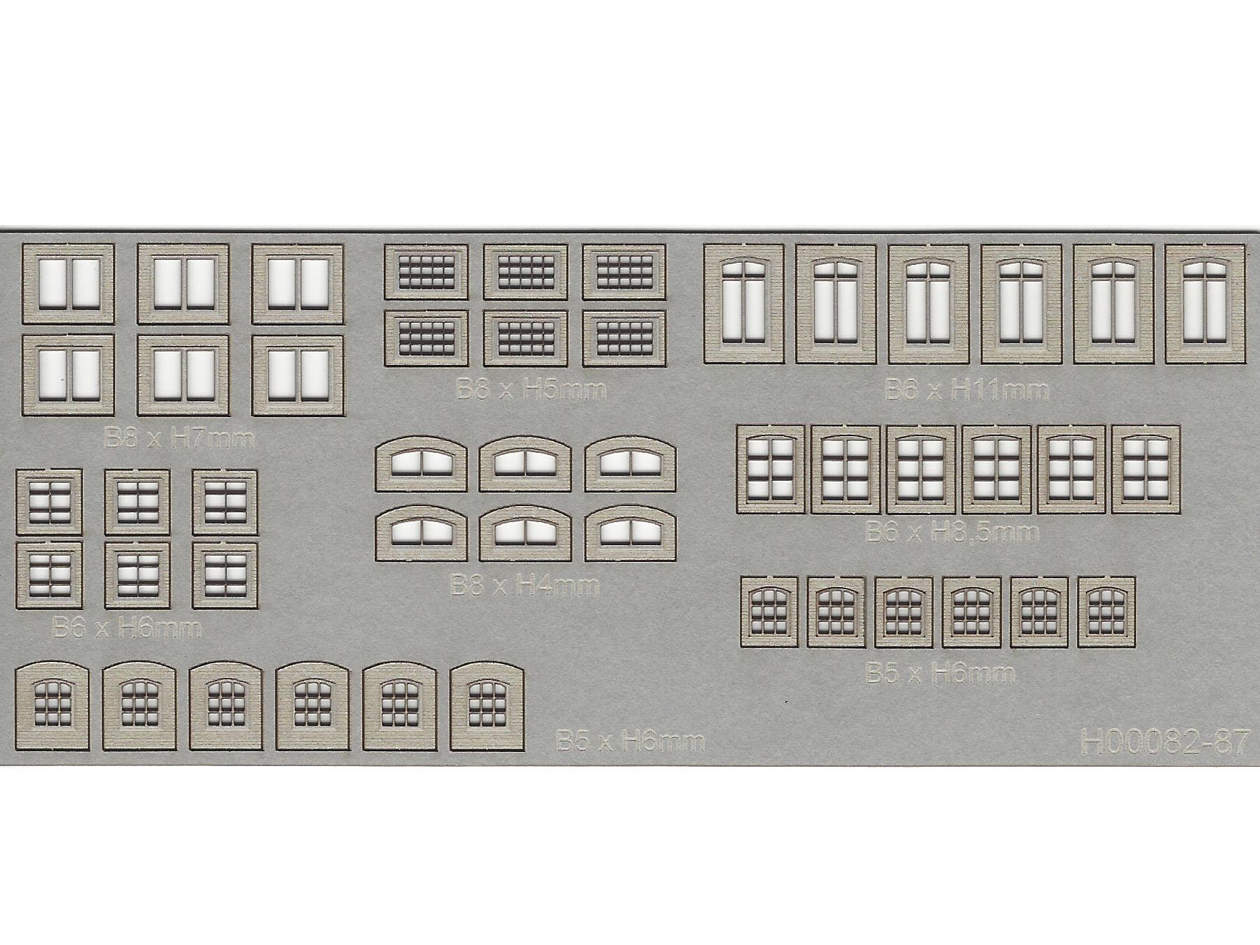 Spur N NEU MU N-H00083 Sortiment Fenster 1 Grau