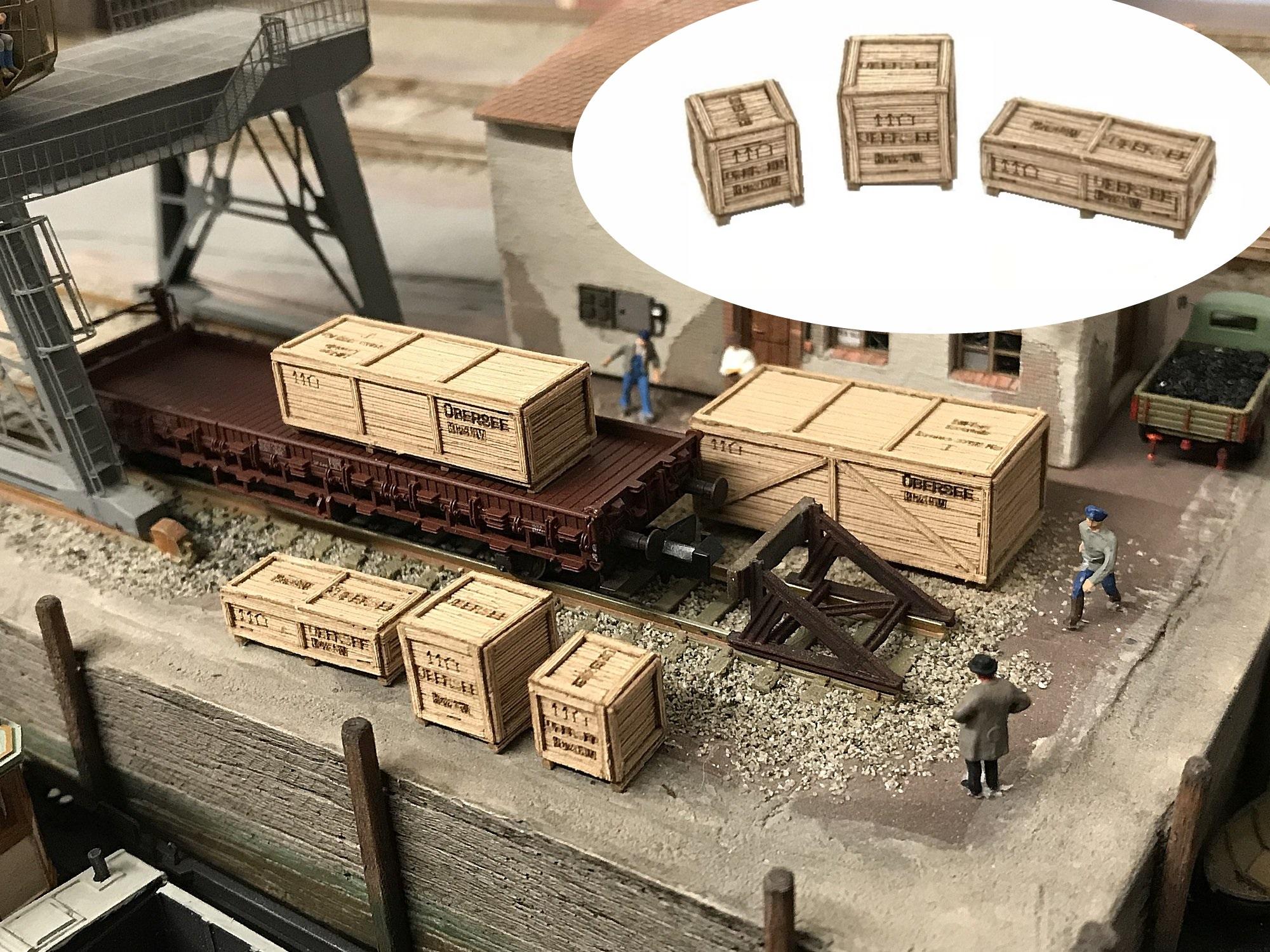 Lasercut Bausatz  Kleines Stellwerk mit Holzverkleidung N   Spur N