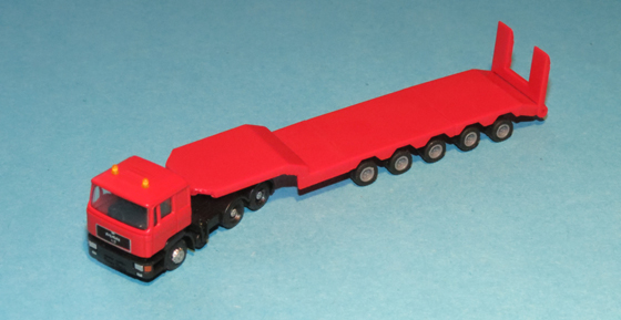 LKW MAN F90 Zugmaschine 3-achsig grün Hochdach NEU DM-Toys 17117 Spur N